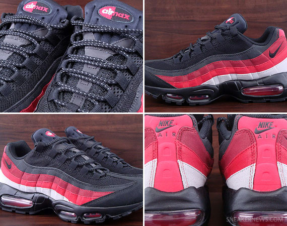 a4ef4b498d Nike Air Max 95 – Black – Neutral Grey – Varsity Red | Available on eBay