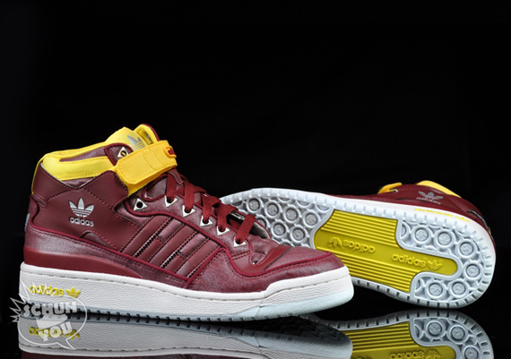 the latest 8f3a6 836a9 adidas Originals Forum Mid  Waxed  – Cardinal Red - SneakerNews.com
