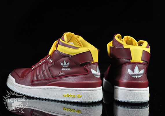 the latest d9208 002a9 adidas Originals Forum Mid  Waxed  – Cardinal Red - SneakerNews.com
