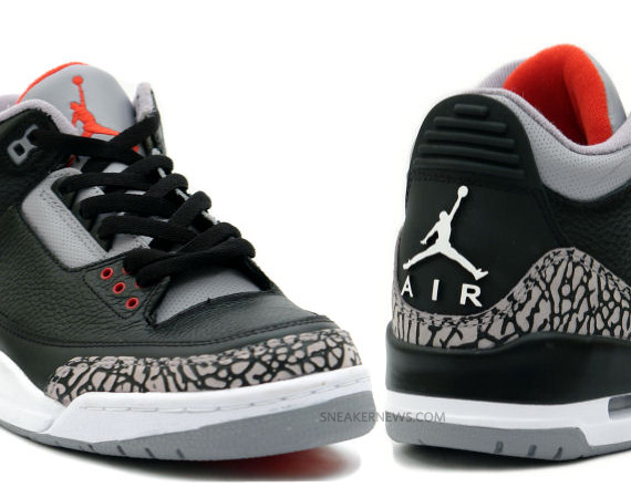 check out 1bd60 7dc85 Air Jordan III (3) Retro – Black – Cement Grey   Confirmed for Holiday 2011