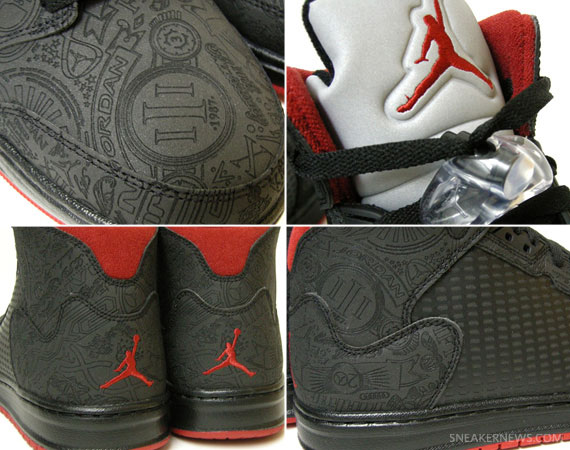 low priced 06c08 ad504 Air Jordan Prime 5  Laser  – Black – Varsity Red   New Images