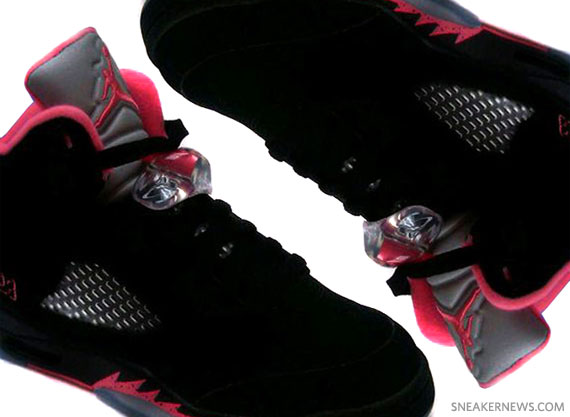 Air Jordan V Retro GS Black Alarming Red