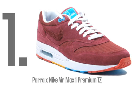Parra x Patta x Nike Air Max 1 is Best of 2010 by Complex