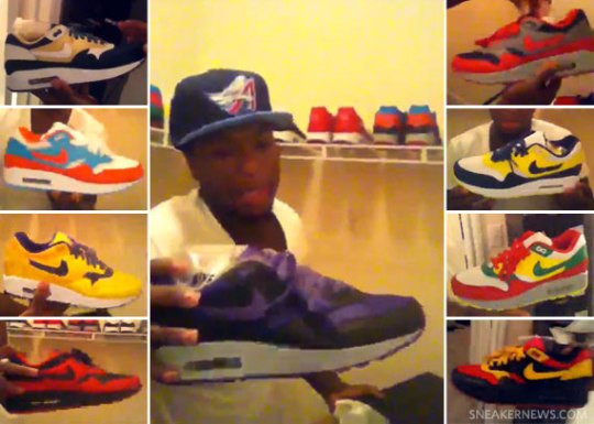 Celebrity Feet: Nate Robinson's Air Max 1 iD Collection