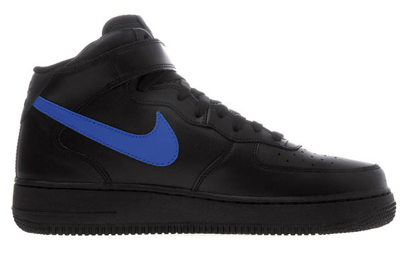 Nike Air Force 1 Mid 07 Black Royal Blue Sneakernews Com