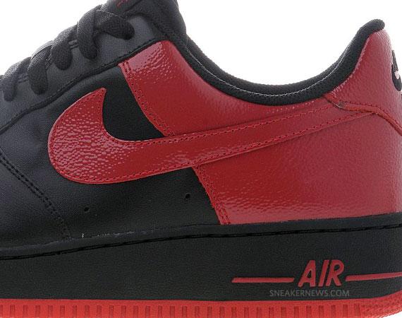 nike air force black red