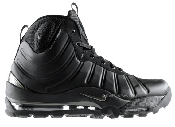 nike air max bakin boot black foamposite men