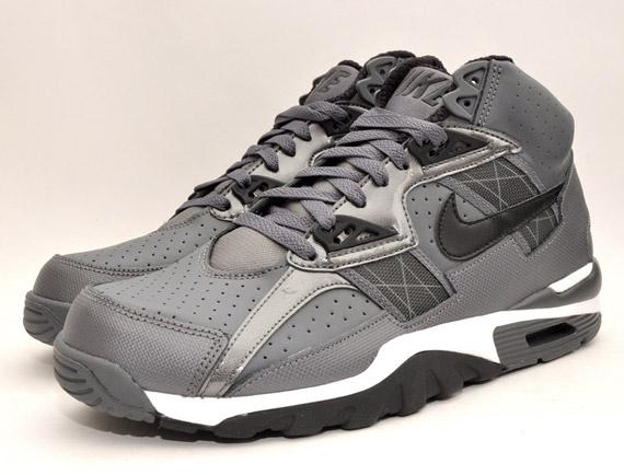 delicate Nike Air Trainer SC High Grey Black White