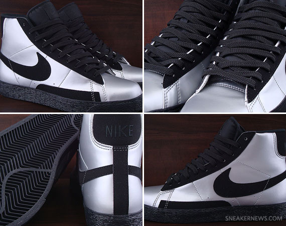 new style 04083 b664d Nike Blazer Mid GS – Silver – Black   Available on eBay