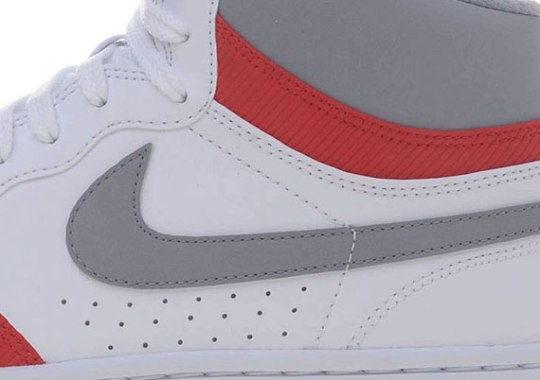 Nike Court Force High – White – Stealth – Sport Red
