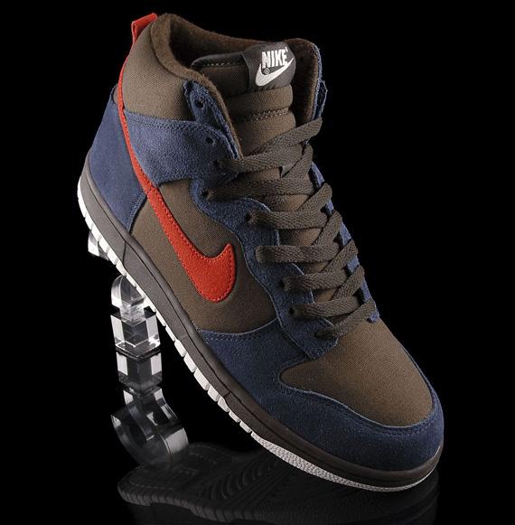 Amperio administración Jarra  Nike Dunk High TG – Brown – Navy – Orange - SneakerNews.com
