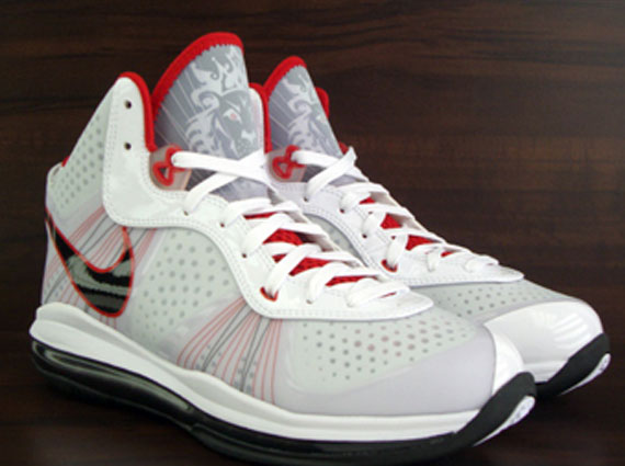 Nike LeBron 8 V2 - White - Sport Red - Black  8308209f5