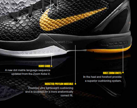Nike Zoom Kobe VI Tech Info