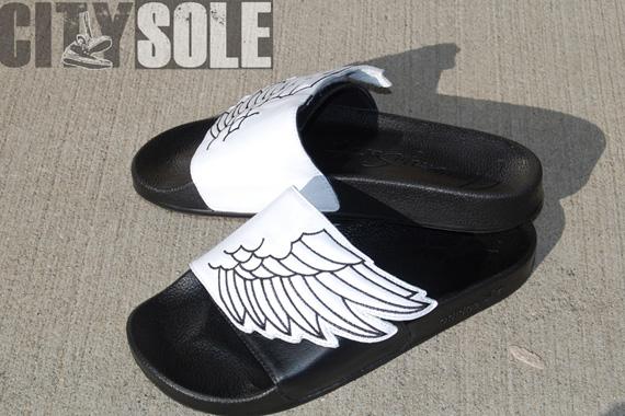 80%OFF Jeremy Scott x adidas Originals Wings Adilette Sandals ... 04d183a6c