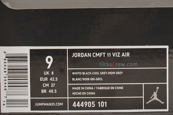 411f023ff28e Jordan CMFT Viz Air 11 – 3M Cool Grey