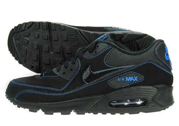 finest selection 1f841 bc45e Nike Air Max 90 Black Blue JD Sports outlet