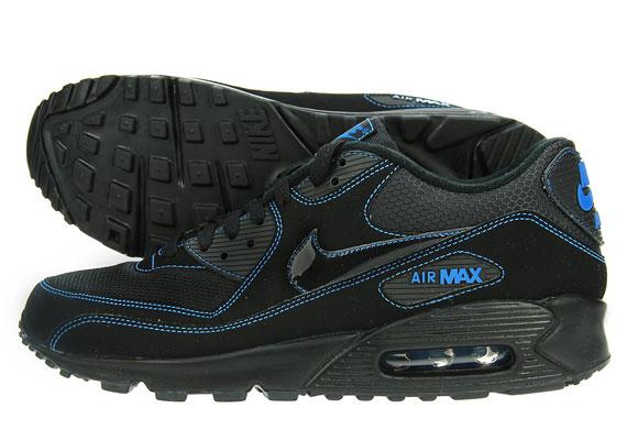 Nike Air Max 90 - Black - Blue   JD Sports - SneakerNews.com ea1a85d1bf19