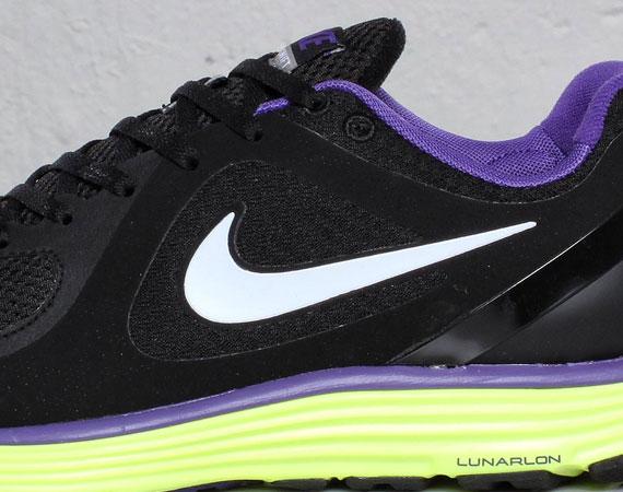 873559c3cbd5 Nike Lunarswift+ – Black – Varsity Purple – Volt - SneakerNews.com