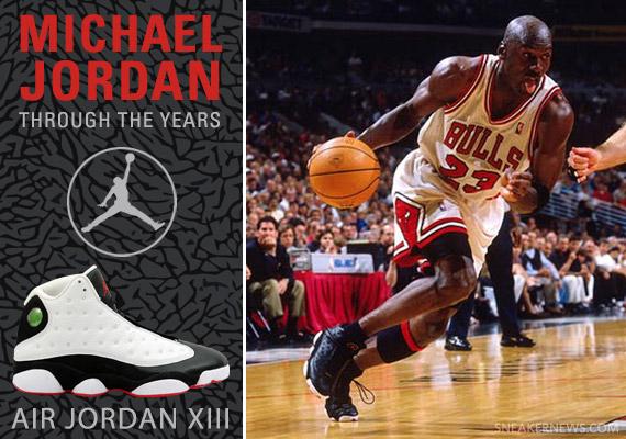 73e5815b4d4d Michael Jordan Through The Years  Air Jordan XIII - SneakerNews.com