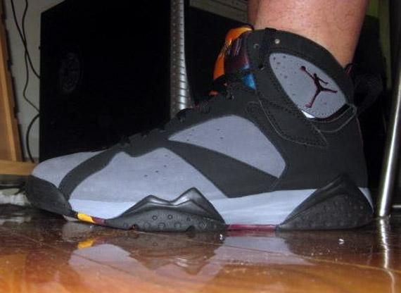separation shoes 3479a b0d59 Air Jordan VII Retro  Bordeaux  – On-Foot Images