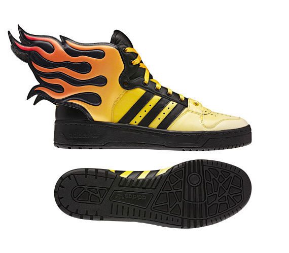 timeless design 02334 c868b Jeremy Scott x adidas Originals Wings 2.0 - Flames   Available ...