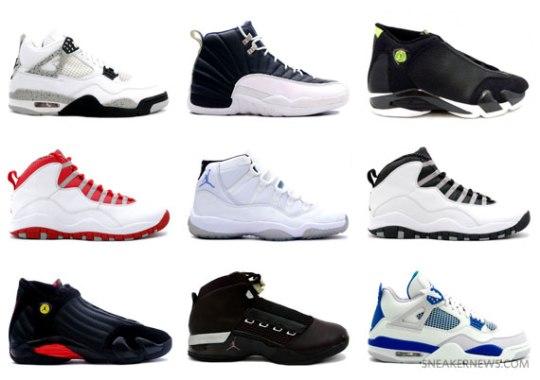 Jordan Brand – Potential 2011/2012 Retro Releases