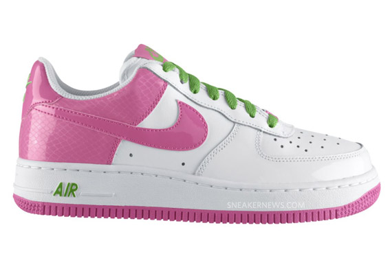 pink and green air force ones