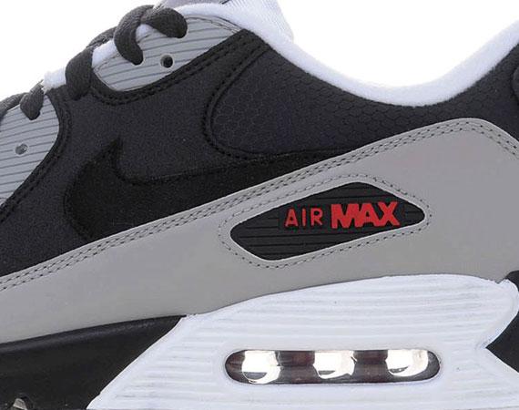 Nike Air Max 90 Grey Black Red