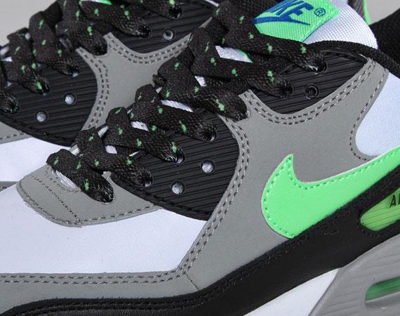 Nike Air Max 90 GS – White – Neo Lime – Medium Grey – Black