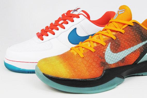 pick up 4151f 9b177 Nike Zoom Kobe VI   Air Force 1 Low – Orange County Pack   Release Reminder