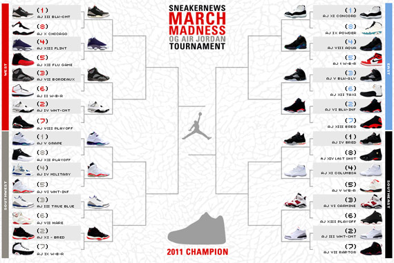 cheap for discount 837e0 ff83a Sneaker News March Madness OG Air Jordan Tournament - Round 1 ...