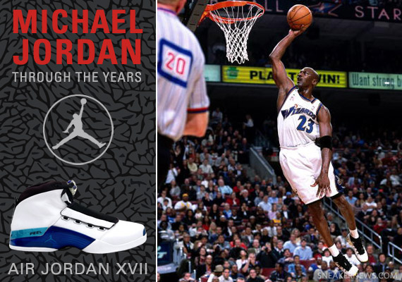 Michael Jordan Through The Years Air XVII
