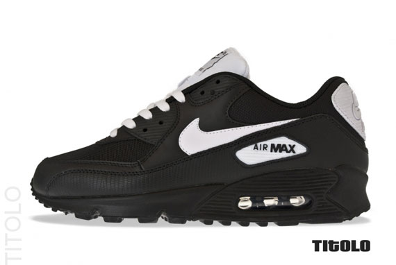 air max 90 black white