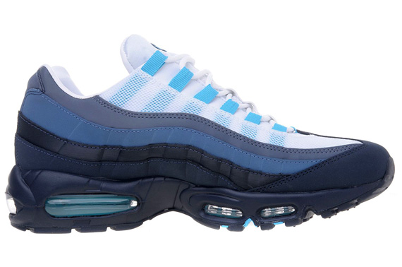 nike air max 95 obsidian white and blue