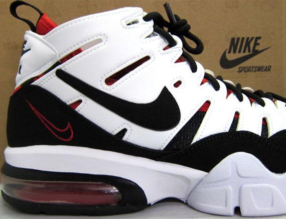 Roja De Baloncesto En Blanco Y Negro Nike Air Max f3I9kkkoM