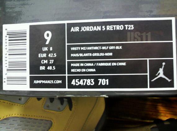 quality design f3481 d174d Air Jordan 5 Retro T23 - New Images - SneakerNews.com