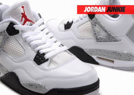 f0aba700cc98d4 ... Air Jordan IV in the White Cement Grey is still a rumored release for  2011 2012. Advertisement. show comments