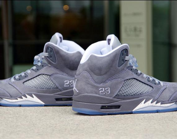 Air Jordan 5 Retro Wolf Grey New Photos Sneakernews Com