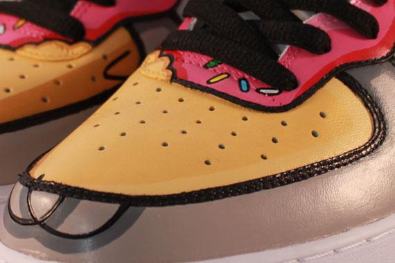 1b5e2f72c Nike Air Force 1 Mid  Homer Simpson  Custom - SneakerNews.com