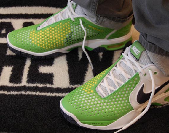 big sale 2a5bf ea0b4 Nike Air Max Courtballistec 3.3 – White – Gridiron – Green Apple – True  Yellow