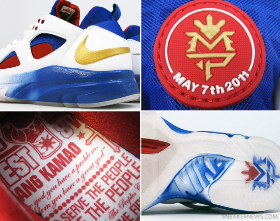 free shipping 90929 38143 Manny Pacquiao x Nike Zoom Huarache TR Low - Release Reminder -  SneakerNews.com