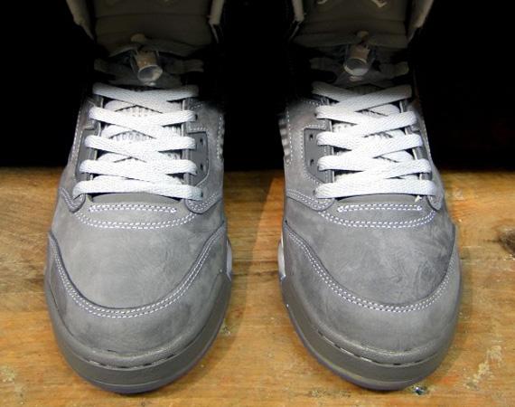 detailed look 48217 77a85 hot sale Air Jordan V Wolf Grey Pre order FootPatrol