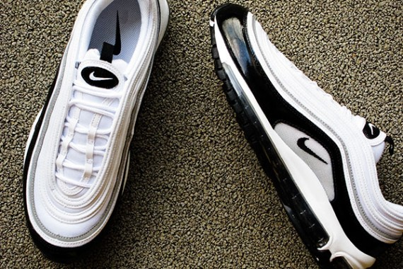 Think of a shiny Nike Air Max 97 colorway. You probably instantly pictured  the OG Silver Bullet or Gold Medal colorways a2df50dba7