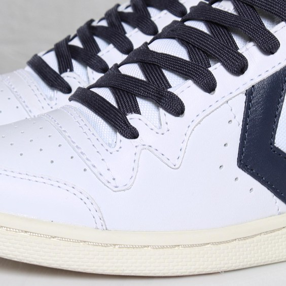 dce66d364403 Converse Fast Break Pro Leather Mid - White - Navy - SneakerNews.com