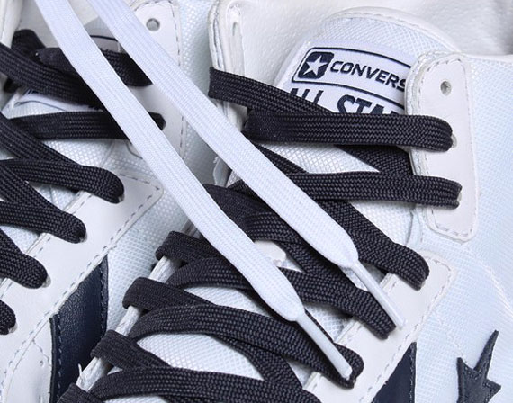97a7f455a4b8 Converse Fast Break Pro Leather Mid - White - Navy - SneakerNews.com ...