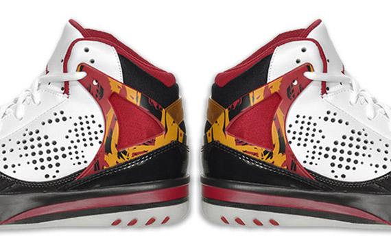Jordan Phase 23 Hoops White Cardinal Red Bronze