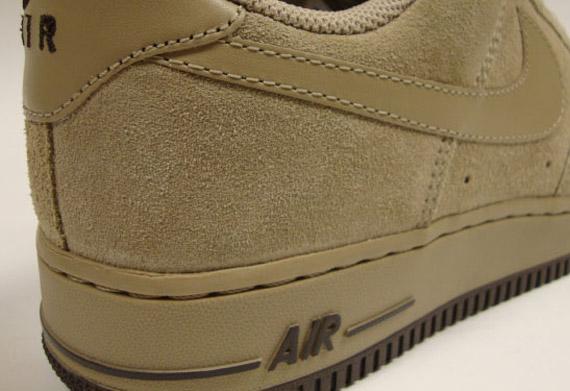 nike air force beige suede