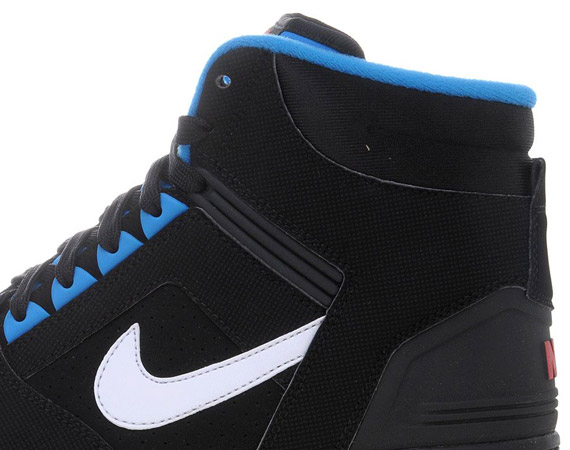 half off 4d4f2 51ffd Nike Air Force II High – Black – Photo Blue – Red