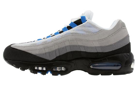 Nike Air Max 95 White And Blue Spark