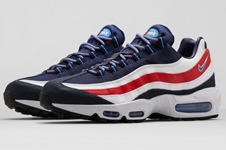 "f192a1f218 Nike Air Max 95 City ""London"" Color: Midnight Navy/Distinct Blue-White-Black-Challenge  Red Style Code: 667637-400. Release Date: 06/06/14"